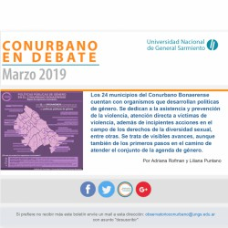 Políticas públicas de género en municipios del Conurbano