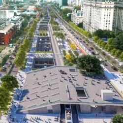 Se podrá cruzar de Plaza de Mayo a Puerto Madero a través de una escalinata