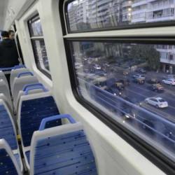 El primer viaje en el tren Mitre a 10 metros del suelo