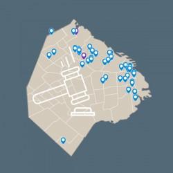 Mapa de Subastas de Bienes del Estado. Novedad en el sitio del Observatorio. Boletín Mayo