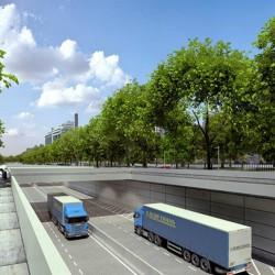 Larreta apura el Paseo del Bajo y ya se realizó la primera prueba con camiones