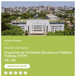 Reunión informativa   Formación Ejecutiva en Políticas Públicas