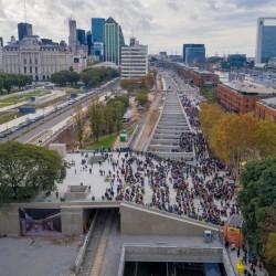 Abre el Paseo del Bajo, la obra que cambiará el tránsito en el área central de la Ciudad