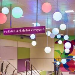 Inauguraron tres nuevas estaciones del subte E, que ahora llega a Retiro