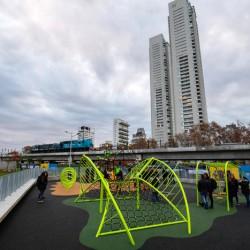 La Ciudad inauguró la primera etapa del Parque Ferroviario Palermo
