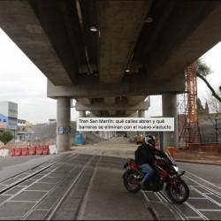 Tren San Martín: qué calles abren y qué barreras se eliminan con el nuevo viaducto