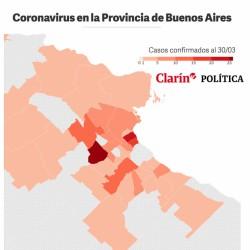 El mapa del coronavirus en la Provincia de Buenos Aires: los casos positivos, distrito por distrito