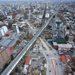 Todavía no retomaron las obras pero ya concesionaron los bajo viaductos del San Martín