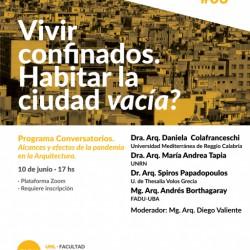Nueva jornada de Conversatorios FADU | UNIVERSIDAD NACIONAL DEL LITORAL