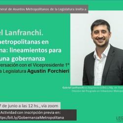 Webinar Gobernanza Metropolitana, con Gabriel Lanfranchi
