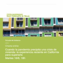 Charla online Cuando la pandemia precipita una crisis de vivienda: la experiencia reciente en California