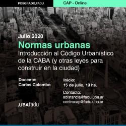 Curso Actualización Posgrado sobre Nuevas Normativas Urbanas. Fadu-UBA