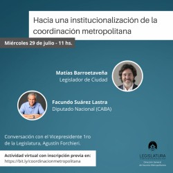Webinar sobre Institucionalidad Metropolitana - Suárez Lastra - Barroetaveña