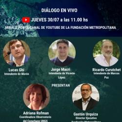 Ghi, Macri y Curutchet en el diálogo