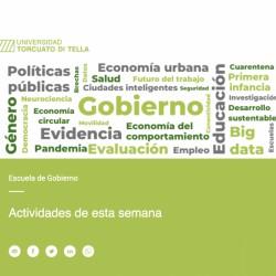 Universidad Torcuato Di Tella - Escuela de Gobierno - Actividades online de la semana