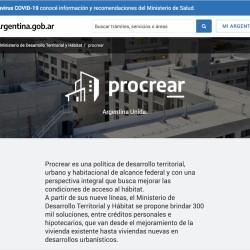 Plan Procrear - sitio oficial
