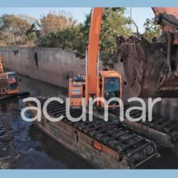 ACUMAR: Sabbatella e Insaurralde recorrieron las obras de limpieza de arroyos