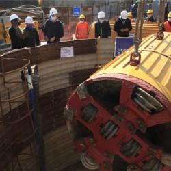 Lomas de Zamora: bajada de la tunelera de una obra cloacal que beneficiará a 36 mil vecinos y vecinas