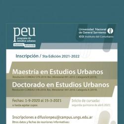 5ta Edición del Programa de Posgrado en Estudios Urbanos