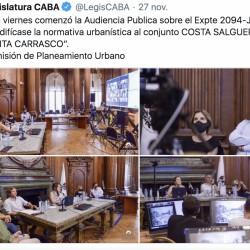 La primera audiencia pública por los terrenos de Costa Salguero duró 10 horas y hablaron 80 personas