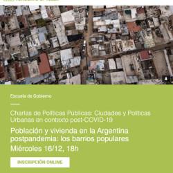 Población y vivienda en la Argentina postpandemia: los barrios populares