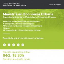 Maestria en Economia Urbana de la Universidad Di Tella- Reunión informativa online
