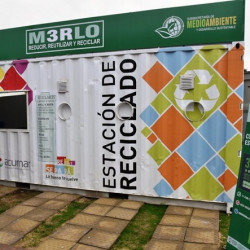 Merlo: Tras un convenio con ACUMAR, instalaron una nueva estación de reciclables
