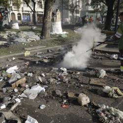 Ciudad: proponen que el Gobierno Nacional pague limpieza y reparación del espacio público tras las marchas
