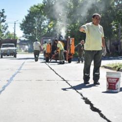 QUILMES Mayra Mendoza supervisó las tareas de servicios públicos en la Ribera
