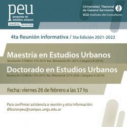 Inscripción para el Programa de Posgrado en Estudios Urbanos