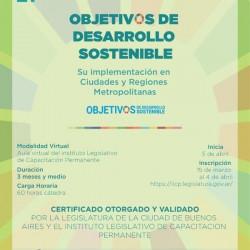 Inscripción Curso ODS y Ciudades de la Legislatura