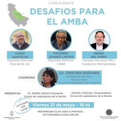 DESAFIOS PARA EL AMBA - Charla Debate Quetglas, Suarez Lastra, Del Piero