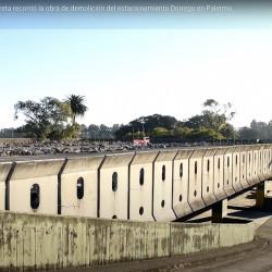 Estacionamiento Dorrego en Palermo: Rodríguez Larreta recorrió la obra de demolición
